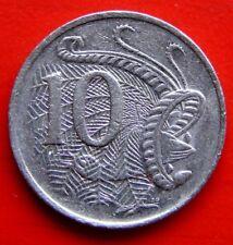 Australia 1988 10 centavos Vintage moneda en un grado muy Coleccionable