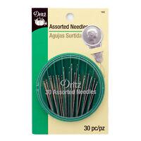 Dritz 30 Assorted Hand Needles With Needle Threader, #160