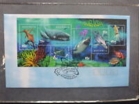 AUSTRALIA 1998 PLANET OCEAN SET 6 STAMPS MINI SHEET FDC FIRST DAY COVER