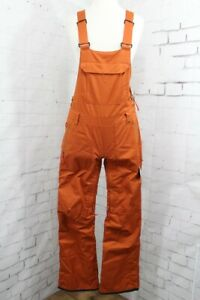 686 Black Magic Insulated Bib Snow Pants, Womens Small, Red Clay Satin Dobby New