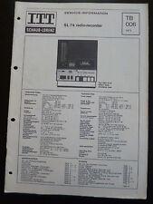 Original Service Manual  ITT Schaub Lorenz SL 74 radio-recorder