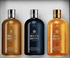Molton Brown Woody Gift Set Bath & Shower Gel 3x 300ml Unboxed