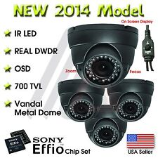 4 X OUTDOOR DOME 36 IR 1000 TVL 4 In-1 HD 1080P SECURITY CAMERA CCTV INFRARED