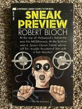 Robert Bloch SNEAK PREVIEW 1st 1971 Great Cover Art
