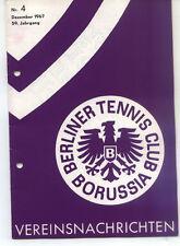 Tennis Borussia Berlin - Vereinsnachrichten - Dezember 1967