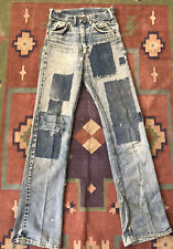 New listing Vintage 60's Lee Rider Patch Work Boot Cut Flare Denim Pants 30X36