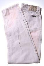 Henry Cotton's Uomo Jeans W34 L33 Bianco Cotone Slim