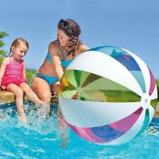"""NEW Intex Giant Jumbo Ball Inflatable 42"""" Beach Pool Color Stripes Ages 3+"""
