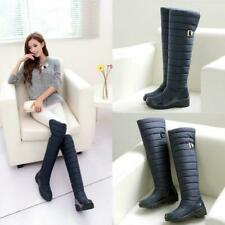 Winter Women's Thick Warm waterproof Over The Knee High Snow Boots US SIZE