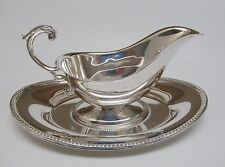 Vintage TOWLE Silver Plate Gravy Boat and Plate ~ Excellent