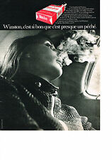 PUBLICITE  1969   WINSTON   cigarettes