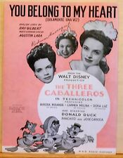 You Belong To My Heart - 1943 Disney movie  The Three Caballeros - Donald Duck