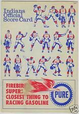 1967 CLEVELAND INDIANS PROGRAM SCORECARD VS CALIFORNIA ANGELS MLB BASEBALL RARE