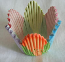 48 colorful petals deep cupcake liners baking  paper cup muffin case