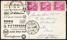 2802 US TO PERU ILLUSTRATED PUBLICITY AIR MAIL QSL CARD 1959 PITTSBURGH,PA - ILO