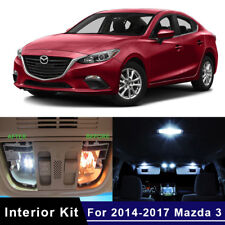 8x LED Car Bulb Interior Package Kit For 2014-2017 Mazda 3 Map Dome Trunk Lights