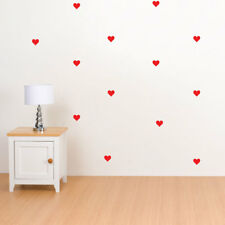 CUORI ST SAN VALENTINO Adesivi Murali Decalcomania In Vinile Arte Home Decor Grafica Murale