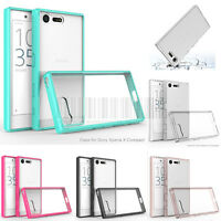 Slim Hybrid Clear Crystal Case Hard Bumper Phone Cover For Sony Xperia X Compact