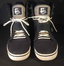 VLADO Atlas II Shoes Navy Blue Gray Quilted Canvas Hightop Sneakers Men's Sz 12