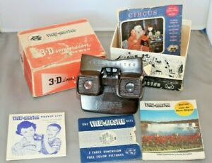 Vintage Sawyers Bakelite View Master 3D Model E + 2 Discs Boxed with Paperwork