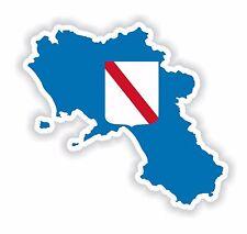 Sticker Silhouette Campania Italy Map Flag Fridge Hard Hat Tool Box Locker