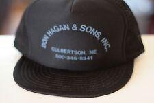 Rare Vtg Don Hagan & Sons Inc Culbertson, Ne Mesh Trucker Snapback Hat Cap