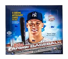 2017 Topps Chrome Baseball Jumbo Hobby 5 Autographs Box