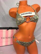 $100 Victoria's Secret Bikini Teeny Triangle~O-Ring Cheeky~Geo Tile Enamel~Sz M