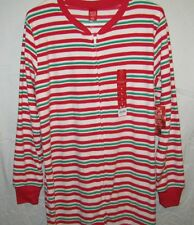 a771c07759 Jammies for Your Families Womens Striped Microfleece One-piece Pajamas Sz S