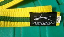 Tae Kwon - Do International Yellow Belt Green Stripe  150cm