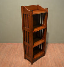 Crafters and Weavers Mission Solid Oak Bookcase Or Magazine Stand