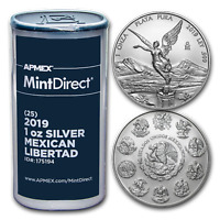 2019 Mexico 1 oz Silver Libertad (25-Coin MintDirect® Tube) - SKU#175194