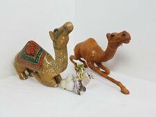 More details for set of 4 vintage camel figurines 2 large 2 small