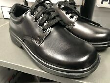 Boys or Girls Clarks Leather Black Formal School shoes,'Direction Junior'. Clark