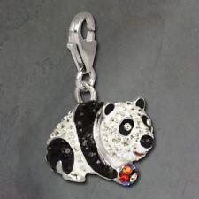 Glitter Charm Panda Bear Zirconia Crystal 925er GSC509W [Imppac]