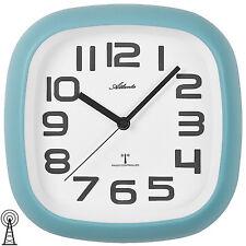 Atlanta 4497/5 Horloge murale Radio-pilotée Analogue Bleu clair