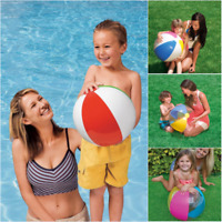Inflatable Blow Up Beach Ball Pool Party Rainbow Water Play Swim Sand Garden Toy