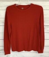 Old Navy Thermal Shirt Mens Medium M Red Solid Long Sleeve Stretch Cotton