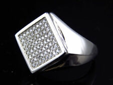Shaped Simulated Sterling Silver Fine Rings