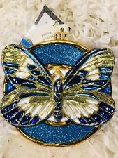Radko Wings Of Hope Butterfly 1016217 Ornament Retired Nwt 2012 Blue and Gold