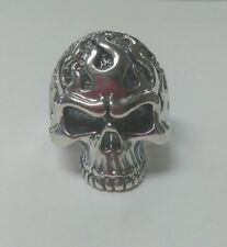 Flame Skull Ring Sterling Silver SZ 13