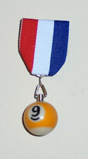 9 Ball Pool Billiards Hall Bar Room Hustler Frat Club Champ Player Badge Medal N