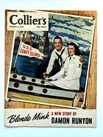 Collier's Magazine Vintage August 1945 Damon Runyon
