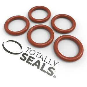 Totally Seals® - 2mm Cross Section Silicone O-Rings VMQ Red Rubber Metric oring