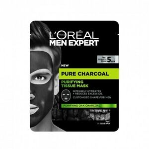L'Oreal Paris Men Expert - Pure Charcoal Purifying Tissue Mask - 50% Off RRP