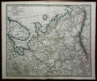 Northern Russia Arkhangelsk Perm Gulf of Onega 1867 Petermann detailed map