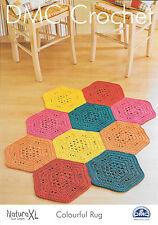 DMC Crochet Pattern: Colorful Rug  Size 90 x120cm - 15236L/2
