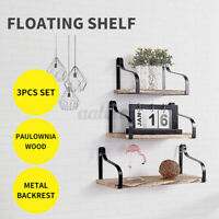Levede Floating Shelf BracketsDisplay Shelves.Bookshelf Wall Mount Rack Storage
