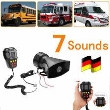 7 Töne 100W 12V Auto Polizei Alarm Sirene Horn + Mic PA Lautsprecher Warnung/Auf