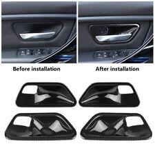 4x For BMW 3 Series F30 14-18 Carbon Fiber Interior Door Handle Bowl Cover Trim